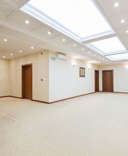 Interior of a luxury hotel corridor